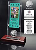 "NFL New England Patriots Super Bowl 36 Ticket & Game Coin Collection, 12"" x 2"" x 5"", Black"
