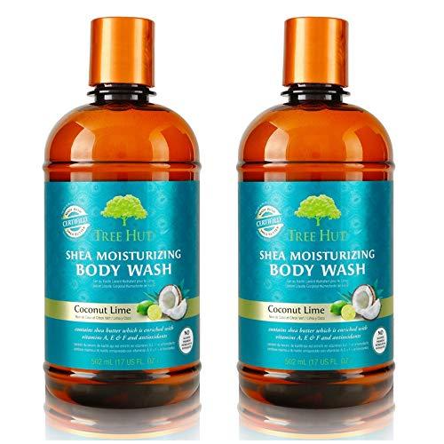 Tree Hut Shea Moisturizing Body Wash 17 oz (Coconut Lime, 2 pack) 17 Oz Moisturizing Gel