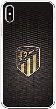 Atlético de Madrid Carcasa para iPhone XS MAX Oficial Escudo Oro: Amazon.es: Electrónica