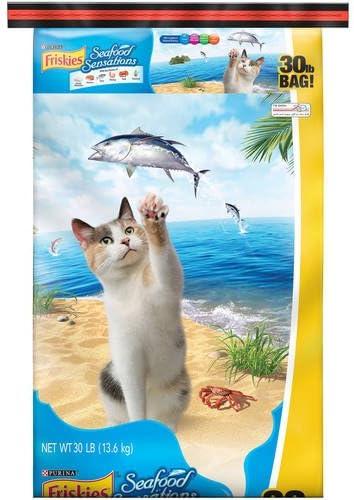 Purina Friskies- Seafood Sensations Dry Cat Food, 30 lb