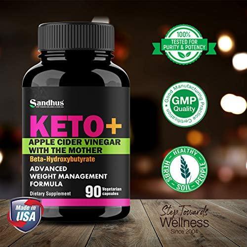 Potent Apple Cider Vinegar with BHB Salts Boosts Ketosis ACV Detox Support Fat Burner & Weight Loss Supplement Keto Pills for Women Men 2 Pack 90 Vegetarian Capsules (180 Count) 6