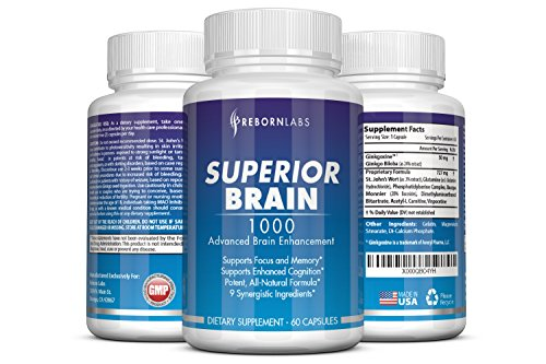 Superior Brain - Brain Supplement for Focus, Memory, & Clarity 60 capsules