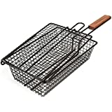 Charcoal Companion CC3003 Non-Stick Shaker Basket with Lid