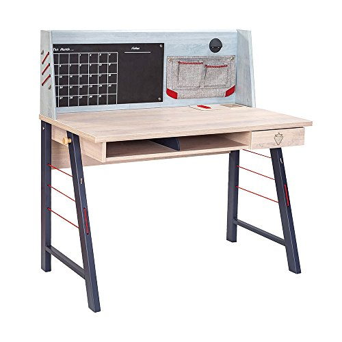 Cilek 20.40.1106.10 Trio Smart Desk with Hutch, Light ()