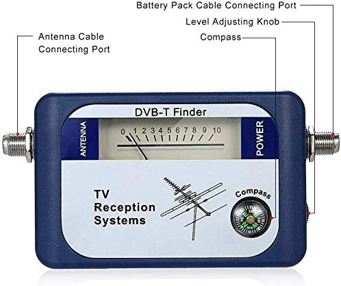 Meter DVB-T Finder Antenna TV terrestre digitale per la misurazione del segnale dellantenna antenna TV digitale Satellite Meter Finder Meter con sistemi di ricezione TV Compass