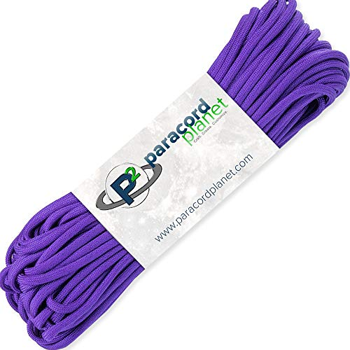 PARACORD PLANET 100' Feet of Type III 550 Paracord - Acid Purple by PARACORD PLANET (Image #1)