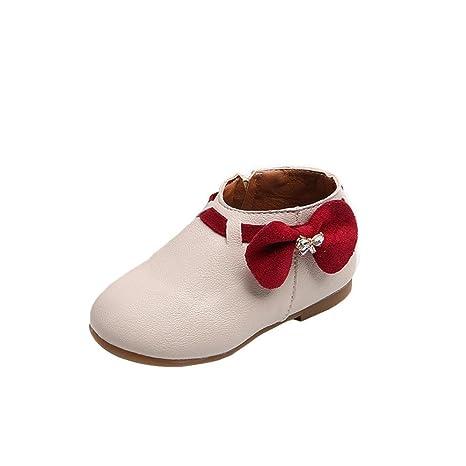 25f1ea01da Zapatos de bebé, Xinantime Niñas Niños Zapatos de bebé Toddler Botas de  zapatillas Bowknot Zipper