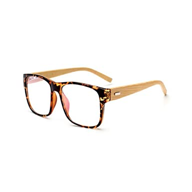 MINCL/Hand Made Bamboo Legs Glasses frame Oversize Frame Men and ...