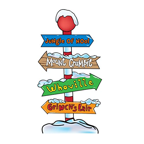 Grinch Whoville - Directional Pole with Customizable Top Arrow (Whoville Characters)