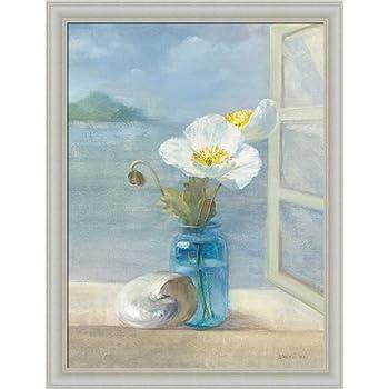 Amazon.com: Coastal Floral II by Danhui Nai Blue Bath ...