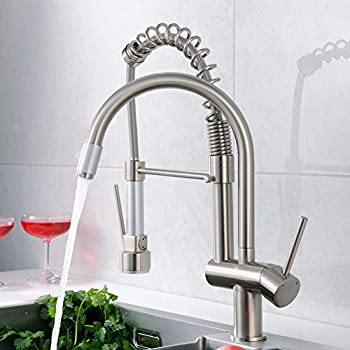 Flg Commercial Style Spring Single Handle Pull Down