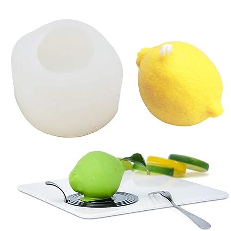 Molde de silicona 3D para jabón, limón, para hacer jabones caseros ...