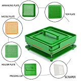 #10: 100 Holes Vitamins Powder Cosmetics Manual Filling Machine Tool For size 00(Green)