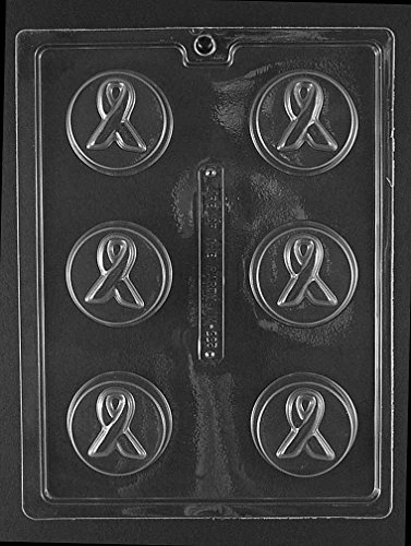 Ribbon Chocolate Mold - Grandmama's Goodies M225 Awareness Ribbon Oreo Cookie Chocolate Candy Soap Mold with Exclusive Molding Instructions