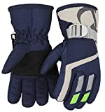 7-Mi Kids Winter Warm Water-Resistant Gloves For Skiing/Snowboarding/Cycling/Riding Outdoor Activities Children Mittens Best For 3 To 6 Years Old Navy