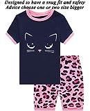 Little Pajamas Cat Sleepwear 100% Cotton Summer Short Toddler Pjs Clothes Shirts Size 4T