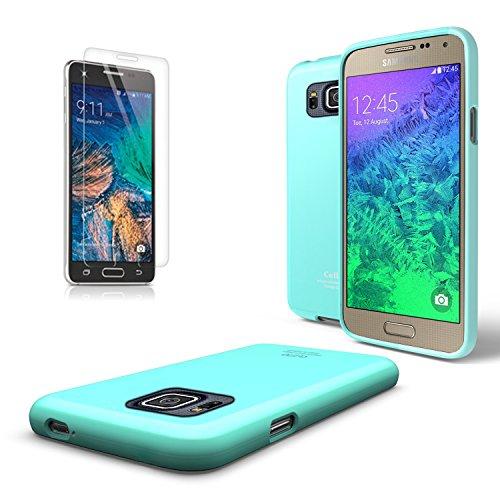 Samsung Galaxy Alpha Case, Cellto [Scratch Resistant] Super Slim Case / Cover with TPU Bumper [SM-N910S / SM-N910C] (Mint)