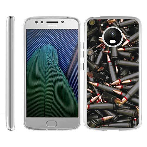 TurtleArmor | Compatible for Motorola Moto E4 Case | Moto E 4th Gen Case | XT1768 [Flexible Armor] Slim Fitted Flexible TPU Case Bumper Skin Cover Military War Army Camo - Black Bullets