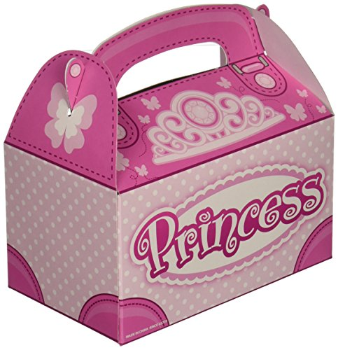 Pink Princess Party Favor Treat Boxes (12 Boxes Total) ()