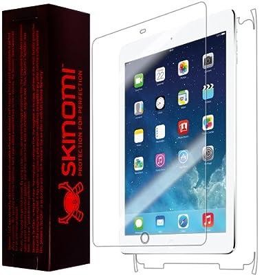 Skinomi TechSkin - Apple iPad Air Wi-Fi + LTE (5th Generation) Screen Protector Ultra Clear Shield + Full Body Protective Skin +