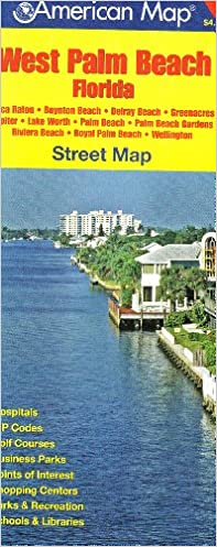 Map Of West Palm Beach Florida.American Map West Palm Beach Florida Trakker Maps Inc
