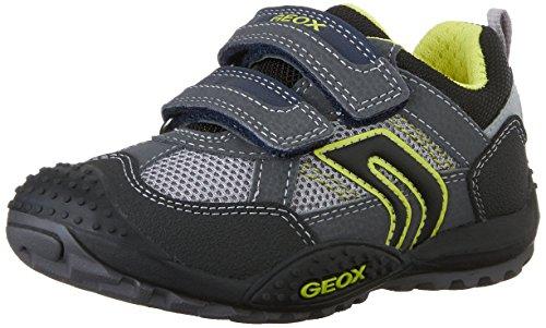 Geox Marlon a, Botines para Niños, Azul Gris (Grey/Lime)
