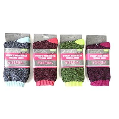 4 Pair Women's Ladies Warm All Season Thermal Socks Value Pack hot sale