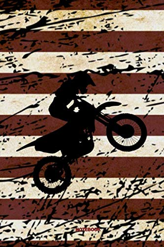 - Notebook: Motocross Notebook American Flag Vintage Gift I Size 6 x 9 I Ruled Paper 110 Pages I Motorcycle Dirt Bike Jumping USA Retro I Planner Pocket ... Booklet Diary Tickler Sketch Memo College Log