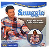 Snuggie Blanket with sleeves (One size, Plaid)