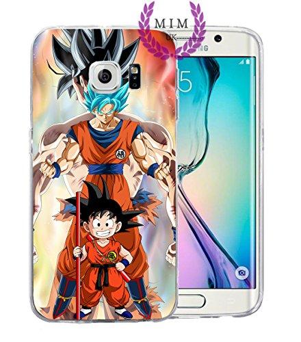 Samsung Instinct Silicone Case (Dragon Ball Z Super GT Samsung Cases Covers - Ultra Instinct - Goku Blue - Vegeta Blue - Gohan - Goku Rose - MIM UK (S8 Plus, Goku Evo))
