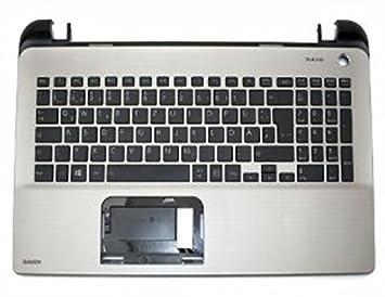 Toshiba A000295770 Refacción para Notebook - Componente para Ordenador Portátil (Top Case, Satellite L50, Negro, Plata, Alemán): Amazon.es: Informática
