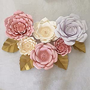 20Cm 30Cm Artificial Paper Flowers DIY Wedding Backdrop Wall Decor Wedding Event Party Decoration Valentines Day Decor 36