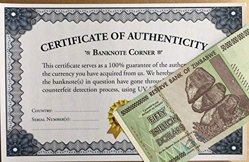 (Northreps ZIM 50 Trillion Dollars Zimbabwe AA 2008)