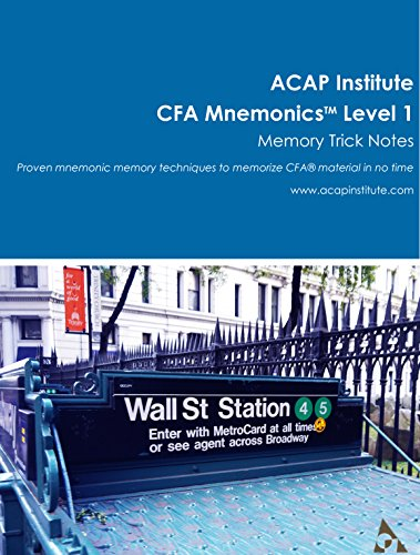 CFA Mnemonics Memory Trick Notes – Level 1