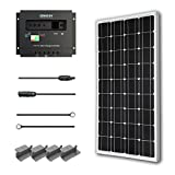 Solar Panel Starter Kit 100W Monocrystalline:100W Solar Panel UL 1703 Listed+2 20′ Solar cables+PWM 30A Charge Controller+ Uniquely Designed Z Bracket Mounts Picture