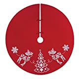 C&F Home Nordic Holiday Tree Skirt Red