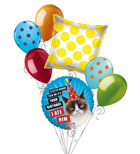 Amazon 7 Pc Grumpy Cat Little Birdie Balloon Bouquet Party