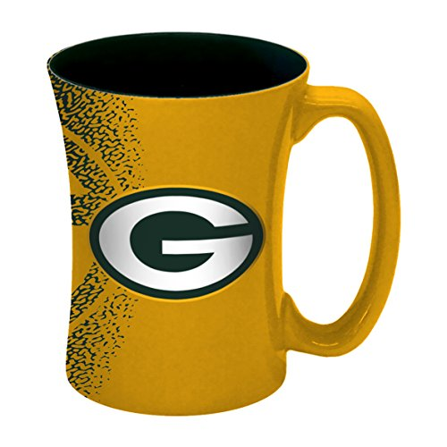 NFL Green Bay Packers Mocha Mug, 14-ounce, Yellow - Green Bay Packers Mug