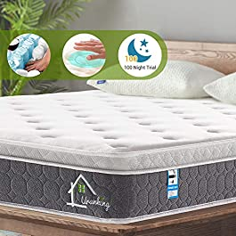 Ej. Life Pocket Sprung Mattress with Memory Foam and 3D Breathable Fabric 9-Zone Support System – 100 Nights Trial