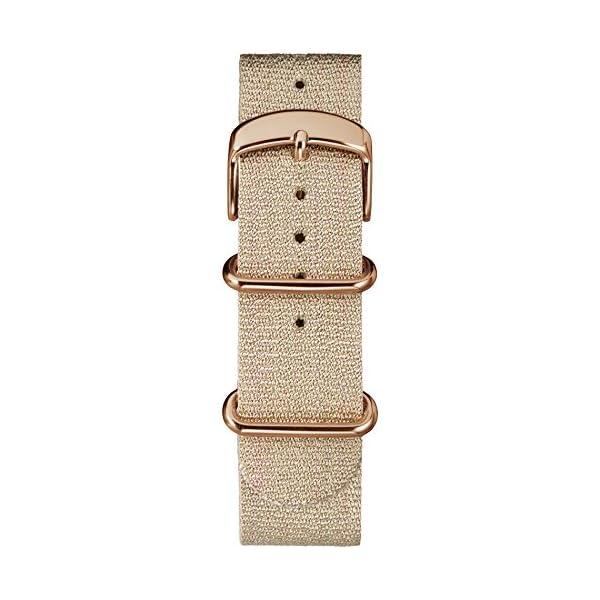 7fd988022a25 RELOJ TIMEX PARA MUJER - TW2R92400 Weekender 38 con banda deslizante y  tejido metalizado color beige.