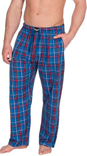 A Rosso Pantaloni Di Pigiama Twill Da Insignia Uomo Cotone Scacchi amp; Blu Casa T5O1xqnwRF