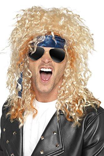 Heavy Metal Rocker Wig In Blonde (Heavy Metal Rocker Costume Kit)