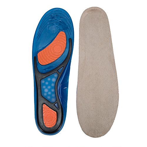 WOBAOS Shoe Insoles, Orthotic Insoles, Memory Foam Insoles Providing Excellent Shock Absorption and Cushioning, Best Insoles for Men and Women for Everyday Use