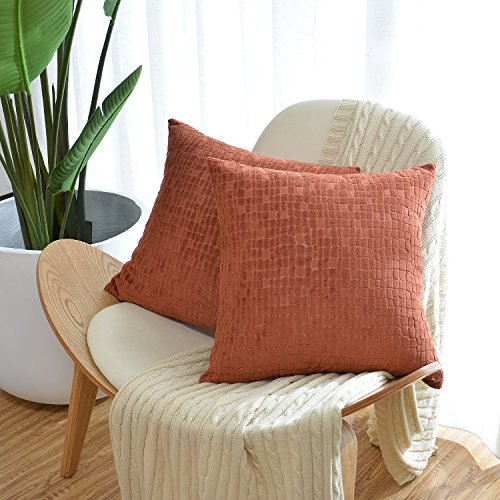 Throw Pillow Case Cover (Light Brown) Set of 3 - 8