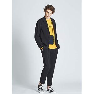 (アバハウス) ABAHOUSE ジャケット・スーツ 【FLAT TECH】テーラードジャケット メンズ ブラック 48(L)