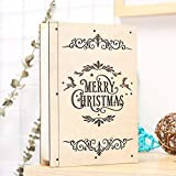 Takefuns Christmas Decorations Led Wooden Christmas Book Frame Hotel Bar Mall Supermarket Window Decoration Forest Elk Scene Set Props