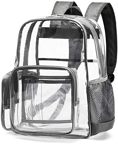 Clear Backpack, Cambond Heavy Duty Transparent Backpacks with Reinforced Straps