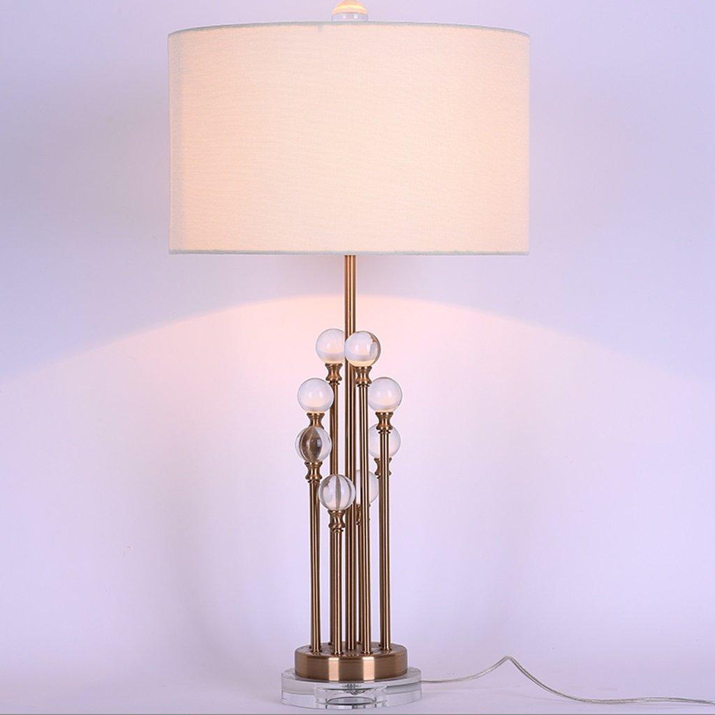 Iron Art Table Lamp / Luxury Crystal Reading Light / Bedroom Decorative Desk Lamp / H73CM W36CM E27 Light Source