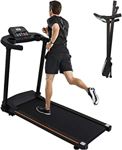 WSHA Folding Under Desk Treadmill, 2.0HP Electric Walking Running Machine with LCD Display, for Home, Office & Gym, Loading 220lbs
