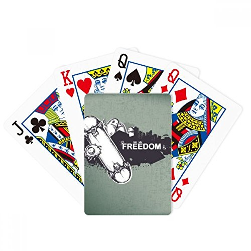 Hip-Hop Freedom Skateboard Monster Pattern Poker Playing Cards Tabletop Game Gift by beatChong